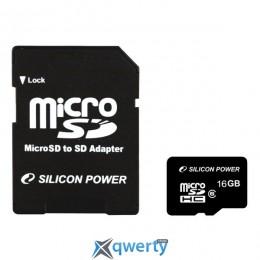 Silicon Power 8GB microSDHC C10 (SP008GBSTH010V10) купить в Одессе