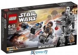 LEGO Star Wars Бой пехотинцев Первого Ордена против спидера на лыжах (75195)
