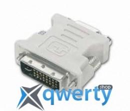Переходник Gresso DVI(M)->VGA/D-Sub(F), модель 6008, без ферритов, белый, кулёк