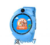 Детские умные сенсорные часы с GPS трекером Q200s/ Q610/ Q360 Голубые