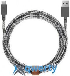 Native Union Belt Cable USB-A to USB-C Zebra (1.2 m) (BELT-KV-AC-ZEB) купить в Одессе