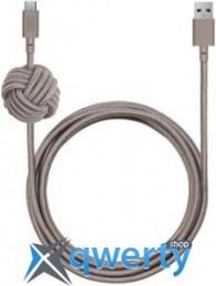 Native Union Night Cable USB-A to USB-C Taupe (3 m) (NCABLE-KV-AC-TAU)