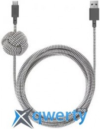 Native Union Night Cable USB-A to USB-C Zebra (3 m) (NCABLE-KV-AC-ZEB)