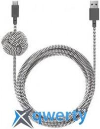 Native Union Night Cable USB-A to USB-C Zebra (3 m) (NCABLE-KV-AC-ZEB) купить в Одессе