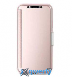 Moshi StealthCover Slim Folio Case Champagne Pink for iPhone X (99MO102301)