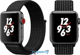 Apple Watch Series 3 Nike+ (GPS + LTE) MQMD2 38mm Space Gray Aluminum Case with Black/Pure Platinum Loop