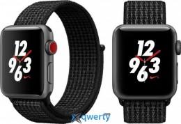 Apple Watch Series 3 Nike+ (GPS + LTE) MQMD2 38mm Space Gray Aluminum Case with Black/Pure Platinum Loop купить в Одессе