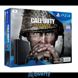 Sony PlayStation 4 Slim 1TB (CUH-2108B) + Call of Duty: WWII