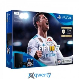 Sony PlayStation 4 Slim 1TB (CUH-2108B) + Fifa 18 + PS Plus 14 дней
