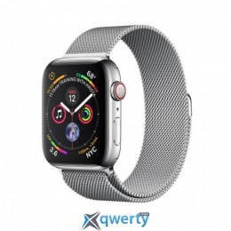 Apple Watch Series 4 GPS + LTE (MTV42) 44mm Stainless Steel Case with Milanese Loop