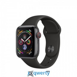 Apple Watch Series 4 GPS + LTE (MTVD2) 40mm Space Gray Aluminum Case with Black Sport Band