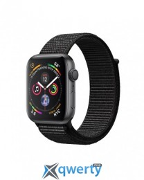 Apple Watch Series 4 GPS + LTE (MTVF2) 40mm Space Gray Aluminum Case with Black Sport Band Loop