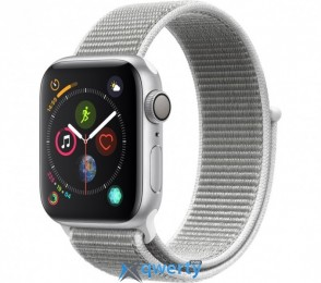 Apple Watch Series 4 GPS (MU6C2) 44mm Silver Aluminum Case with Seashell Sport Loop
