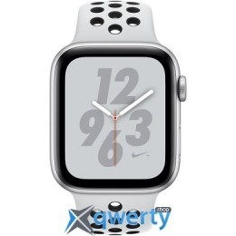 Apple Watch Nike+ Series 4 GPS (MU6K2) 44mm Silver Aluminum Case with Pure Platinum/Black Nike Sport Band купить в Одессе