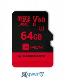MicroSDXC 64GB UHS-II/U3 GOODRAM IRDM R280/W110MB/s + SD-адаптер (IR-M6BA-0640R11)