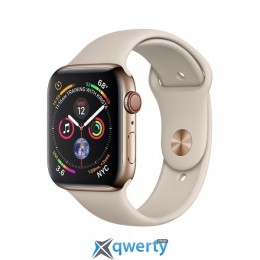 Apple Watch Series 4 GPS + LTE (MTUR2) 40mm Gold Stainless Steel Case with Stone Sport Band купить в Одессе