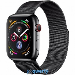 Apple Watch Series 4 GPS + LTE (MTX32) 44mm Space Black Stainless Steel Case with Space Black Milanese Loop