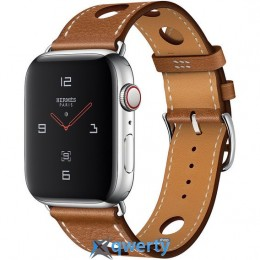 Apple Watch Hermès GPS + LTE (MU9D2) 44mm Stainless Steel Case with Fauve Grained Barenia Leather Single Tour Rallye