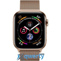 Apple Watch Series 4 GPS + LTE (MTV82) 44mm Gold Stainless Steel Case with Gold Milanese Loop
