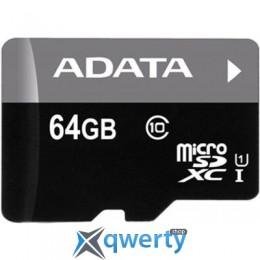 ADATA 64GB microSD class 10 UHS-I (AUSDX64GUICL10-R)