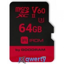 GOODRAM 64GB microSDXC UHS II V60 U3 IRDM (IR-M6BA-0640R11)