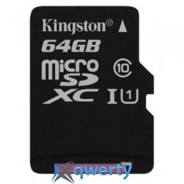 Kingston 64GB microSDXC class 10 UHS-I Canvas Select (SDCS/64GBSP)