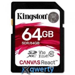 Kingston 64GB SDXC class 10 UHS-1 U3 (SDR/64GB)