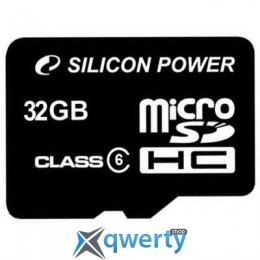 Silicon Power 32Gb microSDHC class 6 (SP032GBSTH006V10)