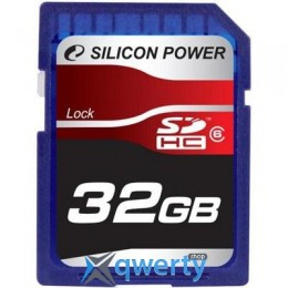 Silicon Power 32Gb SDHC class 6 (SP032GBSDH006V10)
