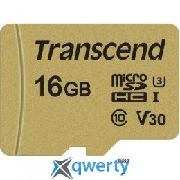 Transcend 16GB microSDHC class 10 UHS-I U3 V30 (TS16GUSD500S)