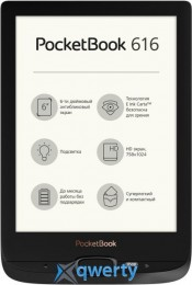 PocketBook 616, Black (PB616-H-CIS)