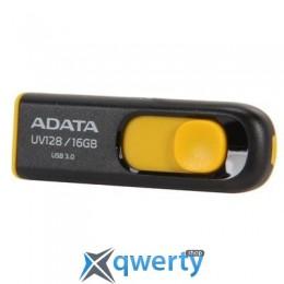 ADATA 16Gb UV128 black-yellow USB 3.0 (AUV128-16G-RBY)