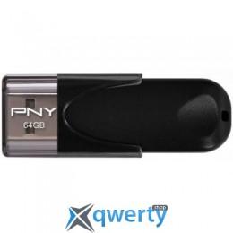 PNY flash 64GB Attache4 Black USB 2.0 (FD64GATT4-EF)