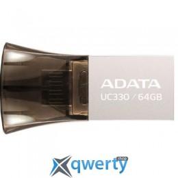 ADATA 64GB UC330 Black USB 2.0 OTG (AUC330-64G-RBK)