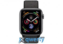 Apple Watch Series 4 GPS (MU6E2)44mm Space Gray Aluminum Case with Black Sport Loop MU6E2