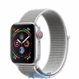 Apple Watch Series 4 GPS + LTE (MTUF2/ MTVC2) 40mm Silver Aluminium Case with Seashell Sport Loop