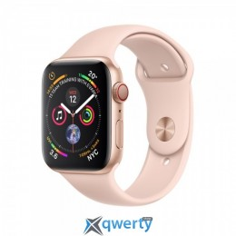 Apple Watch Series 4 GPS + LTE (MTUJ2/MTVG2 ) 40mm Gold Aluminum Case with Pink Sand Sport Band