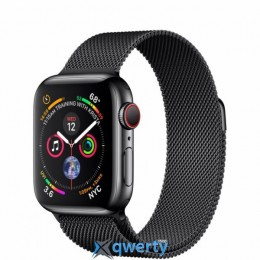 Apple Watch Series 4 GPS + LTE (MTUQ2) 40mm Space Black Stainless Steel Case with Space Black Milanese Loop