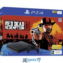 Sony Playstation 4 Slim PlayStation 4 Slim 1TB Black (CUH-2116B) Bundle + Red Dead Redemption 2
