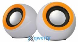 OMEGA 2.0 OG-116B white orange 2x3W RMS USB (OG116BWO)