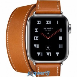 Apple Watch Hermès GPS + LTE (MU6P2) 40mm Stainless Steel Case with Fauve Barenia Leather Double Tour
