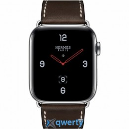 Apple Watch Hermès GPS + LTE (MU6U2) 44mm Stainless Steel Case with Ébène Barenia Leather Single Tour Deployment Buckle