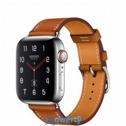Apple Watch Hermès GPS + LTE (MU6V2) 44mm Stainless Steel Case with Fauve Barenia Leather Single Tour