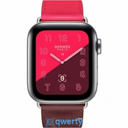 Apple Watch Hermès GPS + LTE (MU702) 40mm Stainless Steel Case with Bordeaux/Rose Extreme/Rose Azalee Swift Leather Single Tour