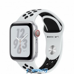 Apple Watch Nike+ Series 4 GPS + LTE (MTX62) 40mm Silver Aluminum Case with Pure Platinum/Black Nike Sport Band