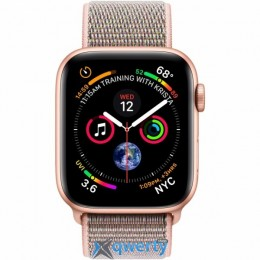 Apple Watch Series 4 GPS + LTE (MTV12/ MTVX2) 44mm Gold Aluminum Case with Pink Sand Sport Band Loop