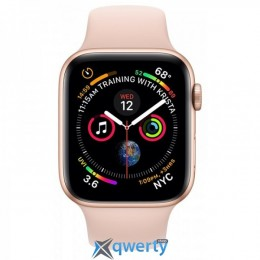 Apple Watch Series 4 GPS + LTE (MTV72) 44mm Gold Stainless Steel Case with Stone Sport Band купить в Одессе