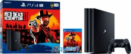 Sony PlayStation 4 Pro 1TB Black Bundle + Red Dead Redemption 2