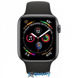 Apple Watch Series 4 GPS + LTE (MTVU2/MTUW2) 44mm Space Gray Aluminum Case with Black Sport Band