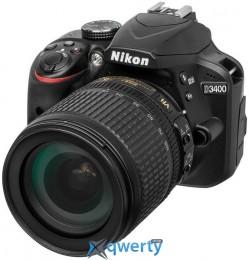 Nikon D3400 18-105VR + 16GB + Bag (VBA490K012)